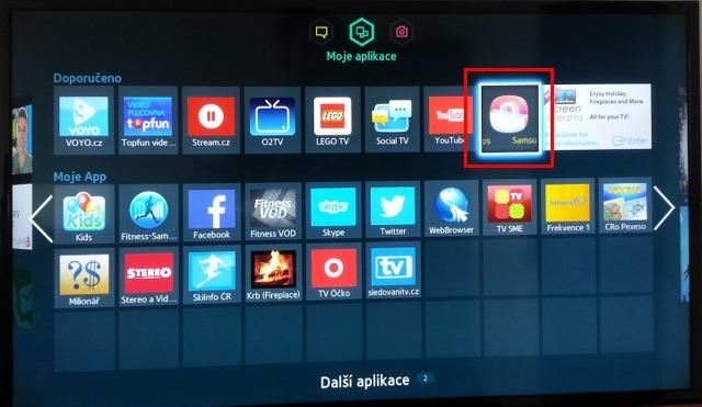 2fbd67f02 Šipkami zvolte aplikaci Samsung Apps a spusťte ji.
