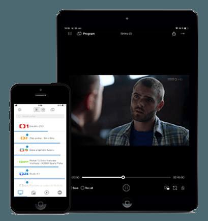 TV přehrávač na zařízeních iPhone a iPad
